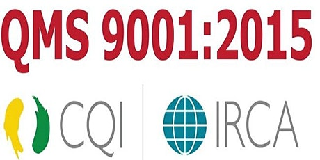 CQI-IRCA Certified ISO 9001:2015 QMS Lead Auditor course tickets