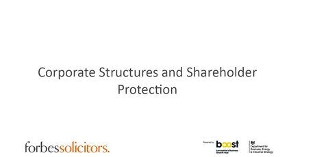 Corporate Structures and Shareholder Protection tickets