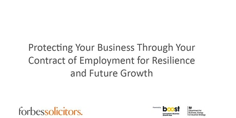 Protecting Your Business Through Your Contract of Employment tickets