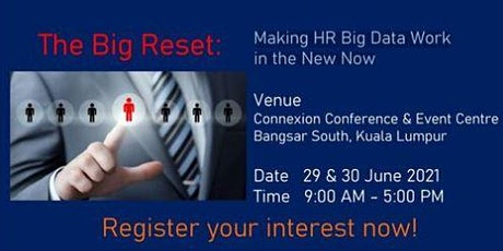 The Big Reset - Making HR Big Data Work tickets