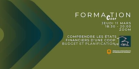 Forma(c)tion : Comprendre les états financiers, budget et planification billets