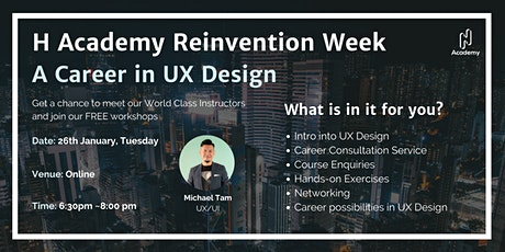 2021 Reinvention Week Day 2: A Career in UX Design tickets