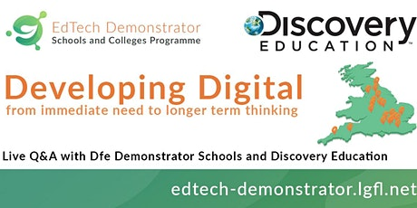 Dfe National Edtech Demonstrator Programme and Discovery Education Seminar tickets