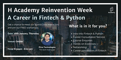 2021 Reinvention Week Day 4: A Career in Fintech & Python tickets