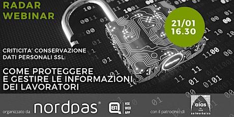 CRITICITA' CONSERVAZIONE DATI PERSONALI SSL biglietti