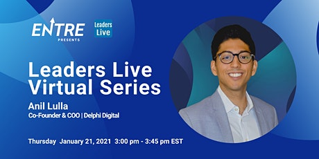 Leaders Live with Co-founder of Delphi Digital tickets