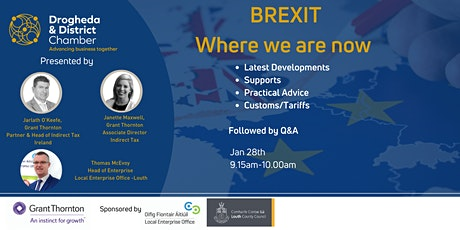 Brexit - Where we are now tickets