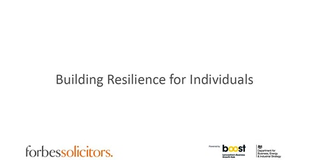 Building Resilience for Individuals tickets