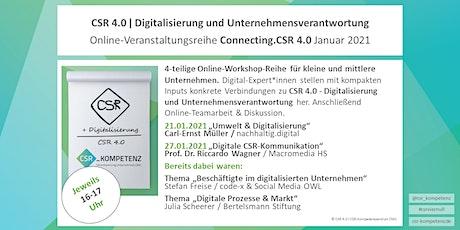 Connecting.CSR 4.0 Online-Workshop-Reihe / Digitale CSR-Kommunikation tickets