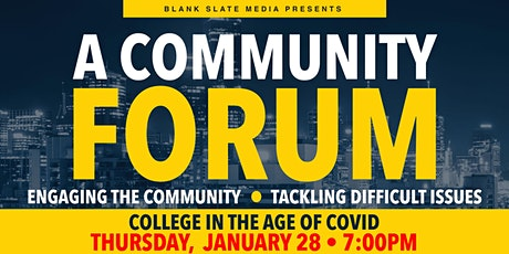 Blank Slate Media Presents: College in the age of COIVD-19 tickets