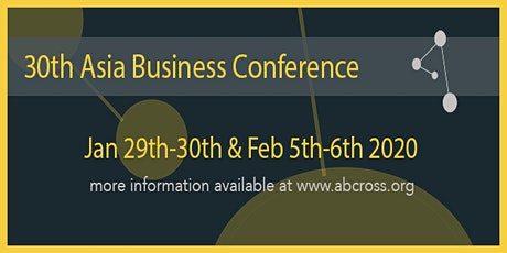 30th Asia Business Conference tickets