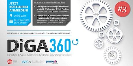 DiGA 360° #3 - Austausch- & Infoplattform zu digit. Gesundheitsanwendungen Tickets