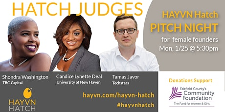 HAYVN Hatch - Meet, Mingle (virtually) Pitch & HATCH - Jan 25 - on Zoom tickets
