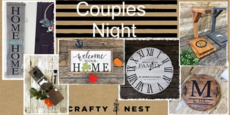 February 13th Couples Night at The Crafty Nest  - Whitinsville tickets
