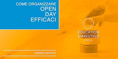 Come organizzare Open Day efficaci · Webinar Gratuito biglietti