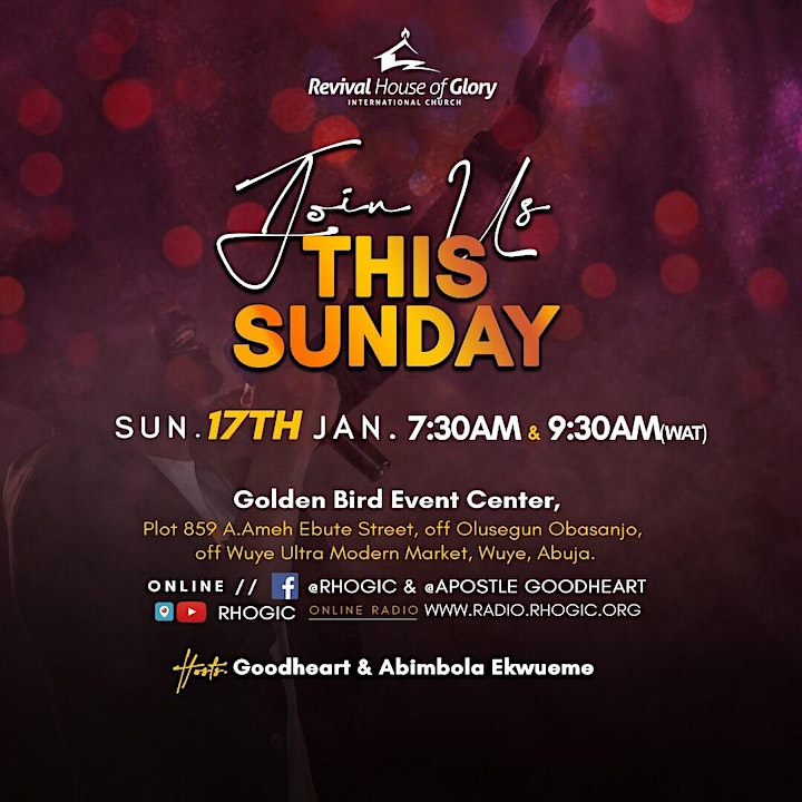 RHOGIC Sunday Second Service - 17th January 2021 image