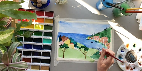 Watercolour Holiday (online class) tickets