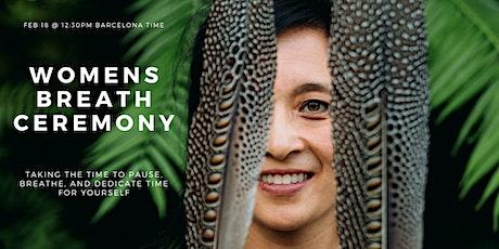 Women's Breath Ceremony: Nourish Your Soul tickets