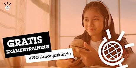 Gratis Online Examentraining Aardrijkskunde (VWO) tickets