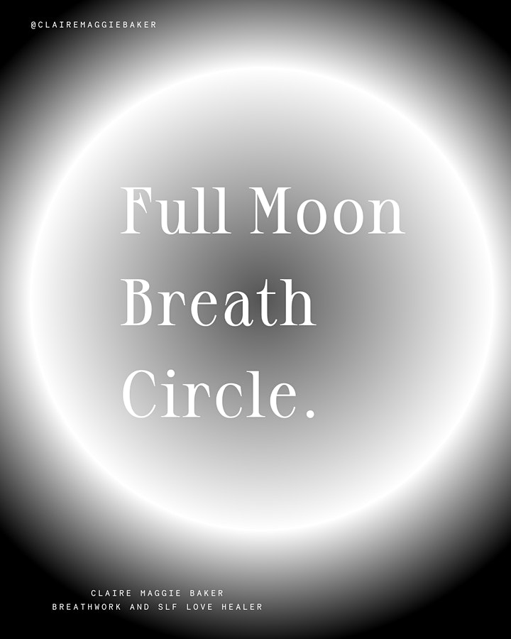 Full Moon Breathwork Circle - Breath to Release image