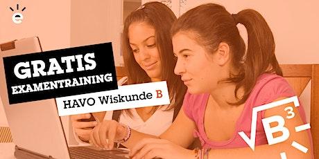 Gratis Online Examentraining Wiskunde B (HAVO) tickets