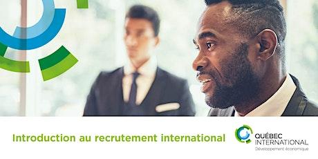 Introduction au recrutement international billets