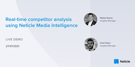 Real-time competitor analysis using Neticle Media Intelligence tickets