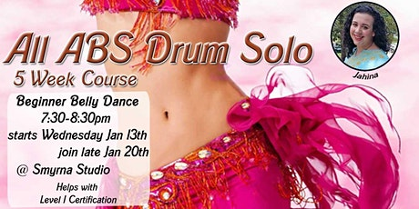 Last chance to join All Abs Drum Solo - Beginner belly dance tickets