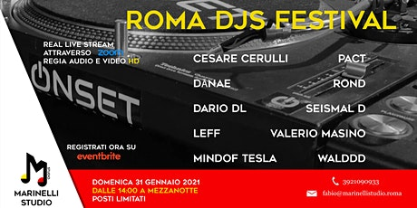 Roma DJs Festival - 10 ore di Musica - Marinelli Streaming tickets