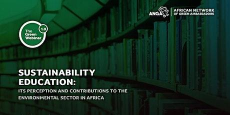 Green Webinar on Sustainability Education tickets