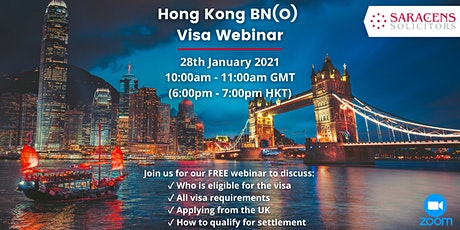 Hong Kong BN(O) Visa - FREE Webinar and Q&A Session tickets