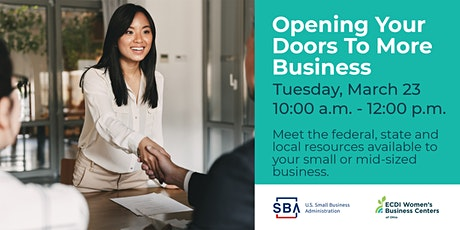 Opening Your Doors To More Business tickets