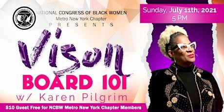 VISONBOARD 101 w/ Karen Pilgrim tickets