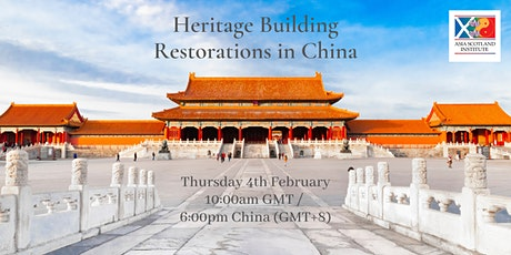 Heritage Building Restoration in China tickets