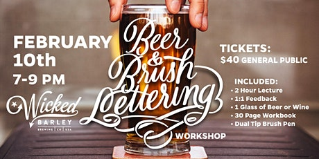 Beer and Lettering tickets