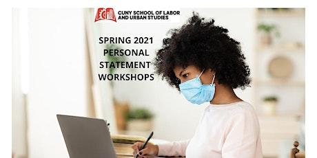 CUNY SLU - Spring 2021 Personal Statement Workshops tickets