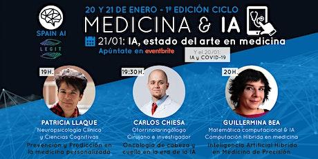 Ciclo webinars MEDICINA & IA. Día 2: IA y Estado del arte en medicina boletos