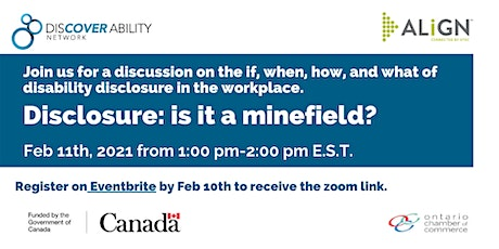 Disability Disclosure: Is it a minefield? tickets