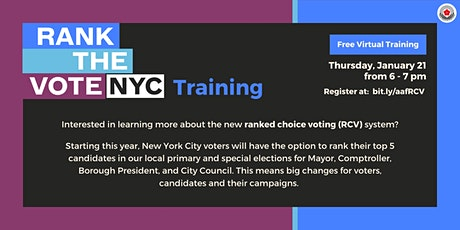 Rank the Vote NYC Training tickets