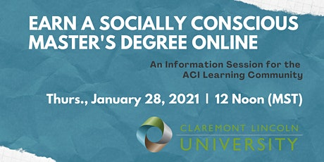 Earn a Socially Conscious Master's Degree - Virtual Info Session tickets