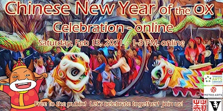 Chinese New Year Celebration - online with Chinese Arts Alliance 2021 tickets