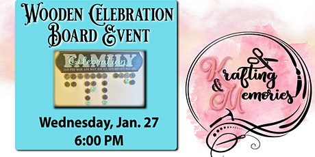 Wooden Family Celebrations Calendar tickets