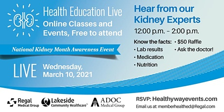 Kidney Health:  Preventing and managing chronic kidney disease tickets