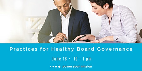 Practices for Healthy Board Governance tickets