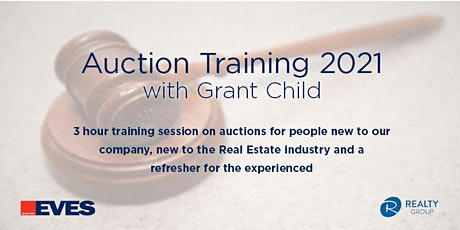 Auction Training - New Salespeople, PA's & Refresher tickets
