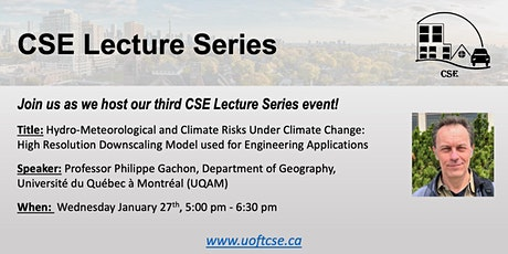 Online Lecture: Hydro-Meteorological and Climate Risks Under Climate Change tickets