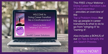 Do Career Transition like a Creativepreneur - Job Search &  Interviewing tickets