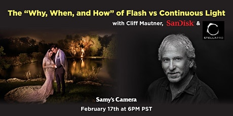Why, When and How of Flash vs Continuous Light with Cliff Mautner tickets