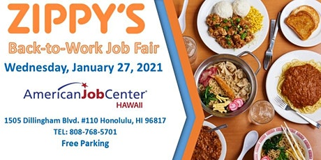 Zippy's Back to Work  Job Fair January 27, 2021 tickets