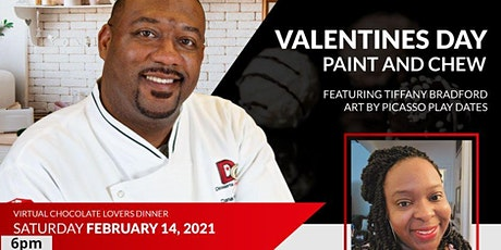 VIRTUAL CHOCOLATE LOVERS PAINT AND CHEW DINNER tickets